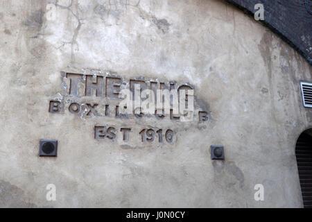 Exterior of The Ring Boxing Club, Ewer Street, Southwark, London, UK. - Stock Photo