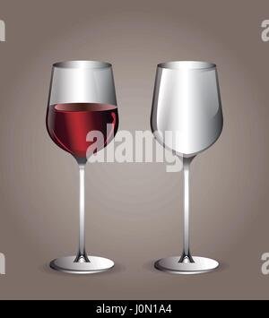 glass cup wine transparent image - Stock Photo