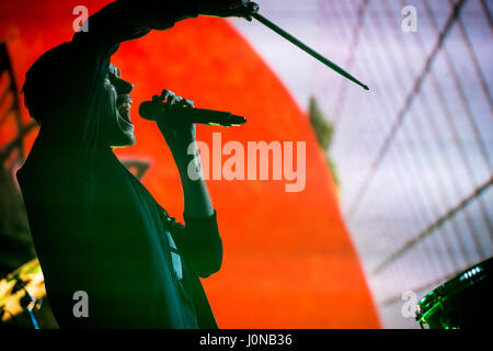 Las Vegas, NV, USA. 14th Apr, 2017. ***HOUSE COVERAGE*** Bastille performs at The Chelsea at The Cosmopolitan of - Stock Photo