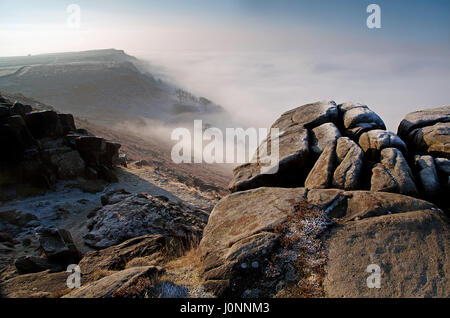 Curbar Edge, Derbyshire, Peak District - Stock Photo