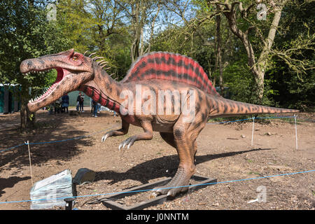 Spinosaurus, Jurassic Kingdom, Osterley Park, London - Stock Photo