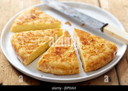 Spanish potato tortilla - Stock Photo