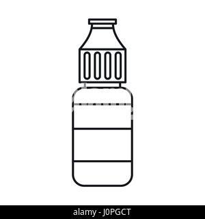 E-cigarette liquid flavour icon, outline style - Stock Photo