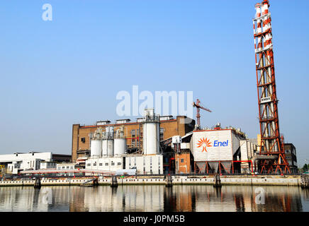 The first industrial-size power plant fueled by hydrogen in the world is brought into operation Monday, July 12 - Stock Photo