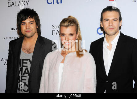 Recording artists Neil Perry, Kimberly Perry, and Reid Perry of music group The Band Perry attend the Universal - Stock Photo