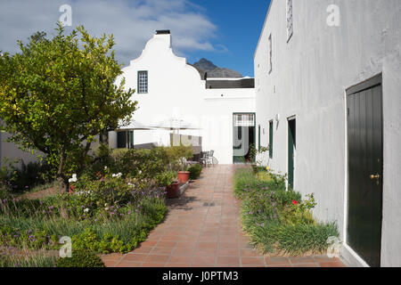 Courtyard Cape Dutch architecture Mowbray Cape Town South Africa - Stock Photo
