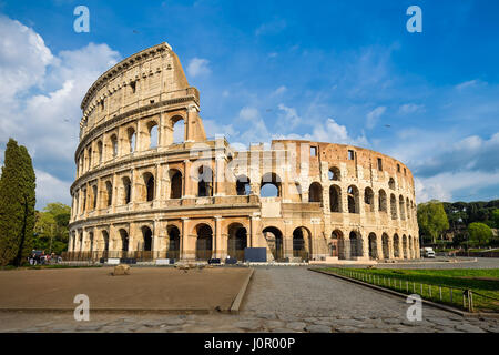 Colosseum in Rome, Italy on a sunny day - Stock Photo