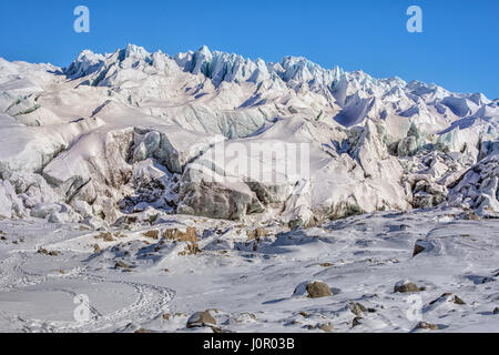 Russell Glacier, Kangerlussuaq, Artic Circle, Greenland, Europe - Stock Photo