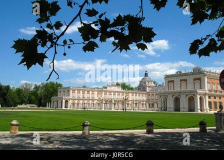 Royal Palace 18th Century, Aranjuez, Madrid, Spain. - Stock Photo