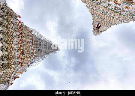an Old Temple in Thailand under construction - Stock Photo