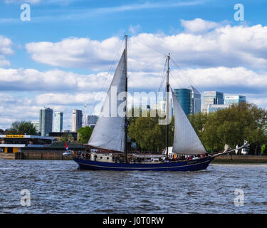 London Greenwich, UK. 15th April, 2017. The Royal Borough of Greenwich is hosting the 2017 Rendez-vous Tall Ships - Stock Photo