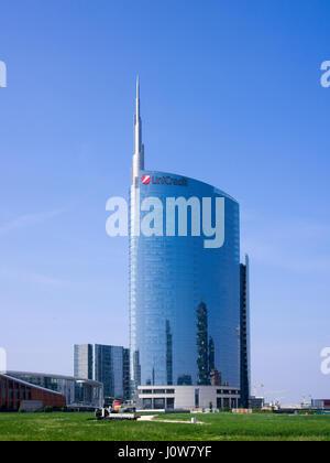Milan street scenes during April 2017 - Stock Photo