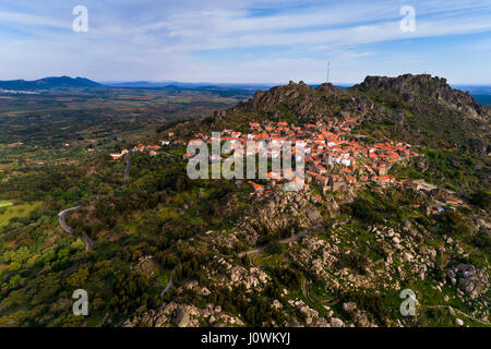 Aerial view of the Monsanto Village in Portugal; Concept for travel in Portugal - Stock Photo