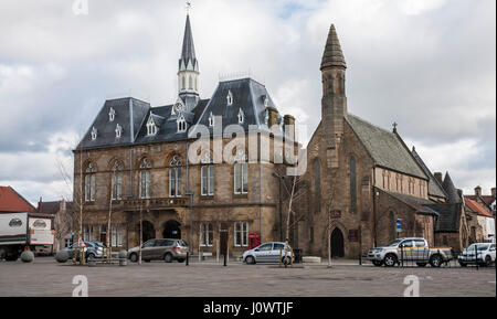 Town Hall,Bishop Auckland,Co.Durham,England,UK - Stock Photo