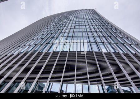 London, UK - March 29, 2017: The skyscraper at 20 Fenchurch street known as the Walkie Talkie building in the City - Stock Photo