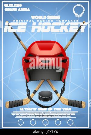 Hockey Poster Template Of Ice Tournament