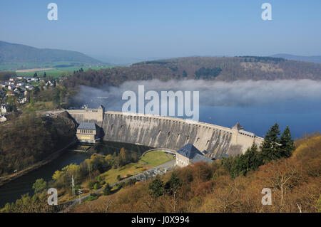 Dam of the Edersee with Fog - Stock Photo