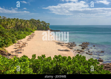 View of Diamond Cliff beach on Koh Lanta Yai, Krabi Province, Thailand, Southeast Asia - Stock Photo