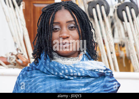 Ghanian African tourist in Woolwhich London - Stock Photo