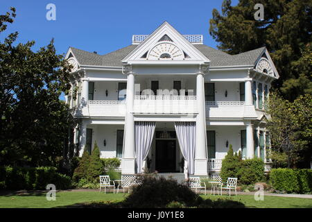 Manasse Mansion, Eastlake or Stick-style house built in 1886 in Napa California - Stock Photo