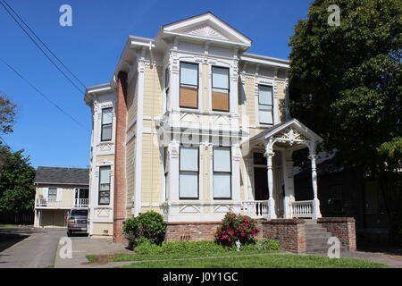 Capt. George Pinkham House, Eastlake or Stick-style house built in 1885 in Napa, California - Stock Photo