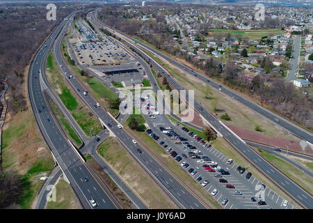 Aerial View Highway Rest Area Gelsenkirchen Resse Resser Mark Stock Photo Royalty Free Image