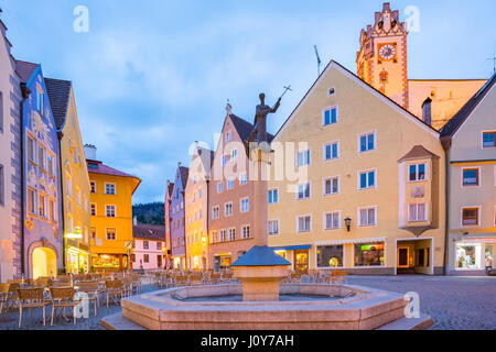 Fussen town in Bavaria, Germany. - Stock Photo