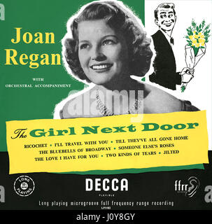 Front cover of the British 10 inch vinyl LP record The Girl Next Door by Joan Regan. Released by Decca Records in - Stock Photo