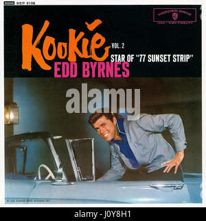 Front cover of a British E.P. by Edd Byrnes titled Kookie Volume 2. This vinyl 7' record was released by Warner - Stock Photo