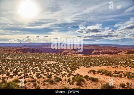 Incredibly beautiful landscape in National Park, Arizona USA