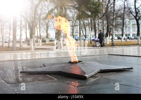 spring time eternal flame monument - Stock Photo