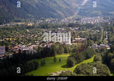 Luftbild: Chamonix, Frankreich. - Stock Photo