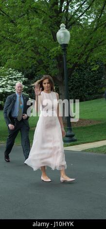Washington, USA. 17th Apr, 2017. Washington DC, April 17, 2017, USA: President Donald J Trump and First Lady Melania - Stock Photo