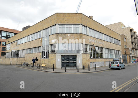 London, UK. 17th Apr, 2017. Photo taken on April 17, 2017 shows the general view of Mangle E8 nightclub after a - Stock Photo