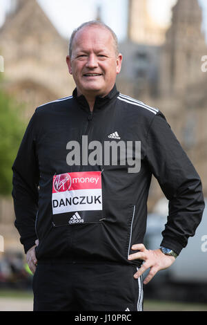 London, UK. 18 April 2017. Independent MP Simon Danczuk, Rochdale, running for the Rochdale Connections Trust. MPs - Stock Photo