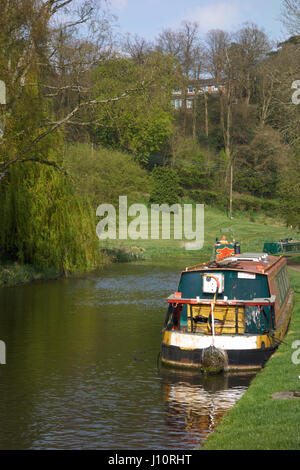 Staffordshire and Worcestershire Canal below Kinver Lock. UK - Stock Photo