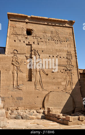 the ptolemaic temple of Isis from Philae, Aswan, Egypt, Africa - Stock Photo