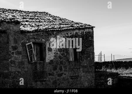 View of Abandoned Fishing Village Tradiontal Old House - Stock Photo