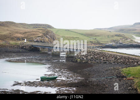 The causeway joining the islands of Canna and Sanday, Inner Hebrides,Scotland - Stock Photo