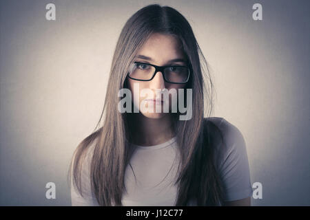 Young woman in glasses - Stock Photo
