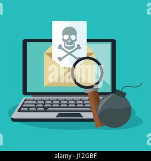 cyber security design - Stock Photo