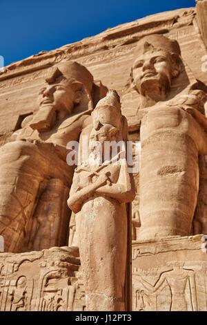 Großer Tempel Ramses' II. , Abu Simbel, Aegypten, Afrika |Great Temple of Ramesses II, Abu Simbel temples, Egypt, - Stock Photo