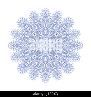 Abstract blue shape on white background - Stock Photo