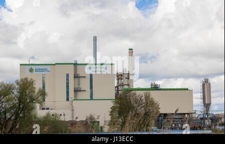 Brunsbuettel, GERMANY - April 16, 2017:Bio Energy Brunsbuettel - Biomass power plant - Stock Photo