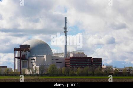 Brokdorf, GERMANY - April 16, 2017:Brokdorf nuclear power plant - Stock Photo