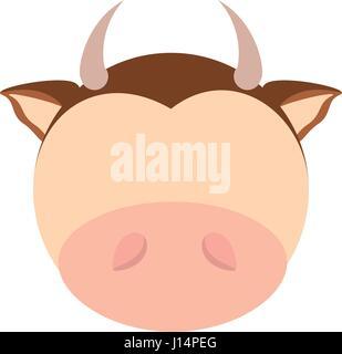 head cute cow animal image - Stock Photo
