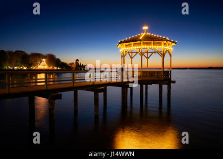 Bregenz is an Austrian city, on the border of Germany and Switzerland. It`s situated on the Lake Constance and serves - Stock Photo