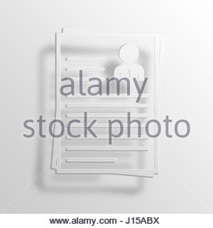 resume 3d paper icon symbol business concept no 9124 stock photo