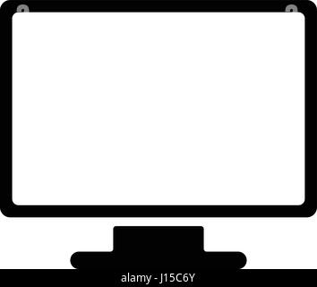 Computer monitor icon. Flat PC symbol. Vector illustration, EPS10 - Stock Photo