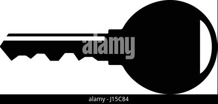The key icon. Key symbol. Flat Vector illustration - Stock Photo